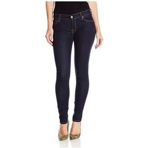 7 For All Mankind Skinny Jeans in Rinsed Indigo